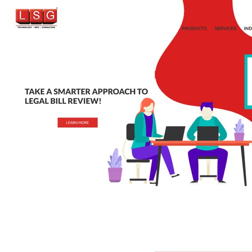 landing page for LSG