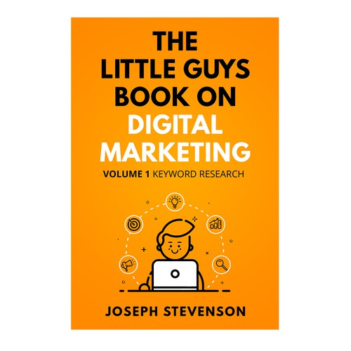 Modern Design for a Digital Marketing Book Cover