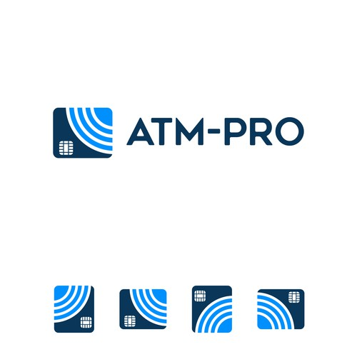 Simple, Powerful, professional, clean logo for ATM Company.