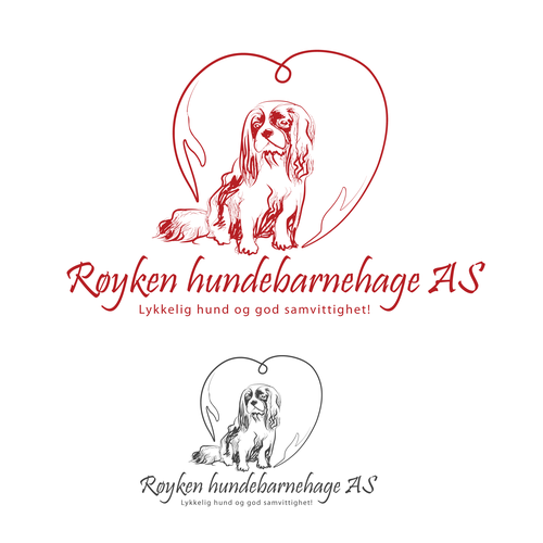 creative logo for Royken hundebarnehage AS