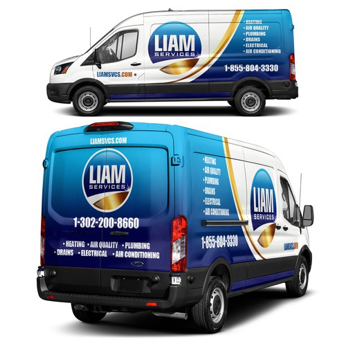 Liam Services Van Wrap