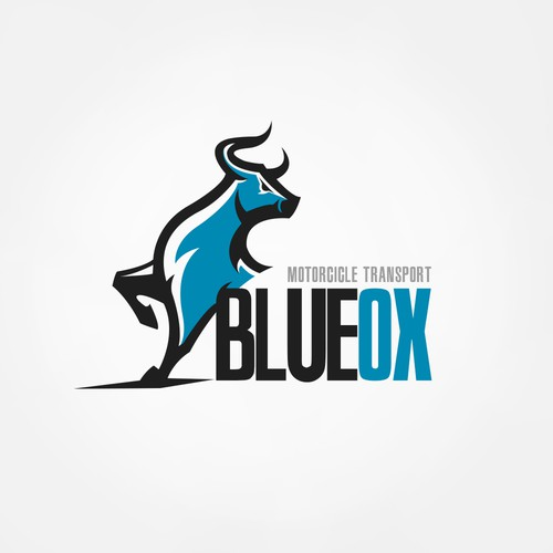 Blue Ox Motorcycle Transport Logo Contest