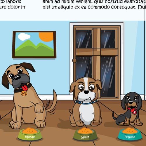 Cute Dogs illustration for Children book