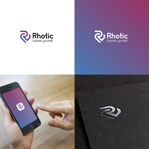 Rhotic logo (R+Heart)