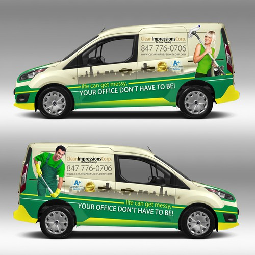 Please design the most outstanding car wrap for 2014 Transit Connect in Chicago