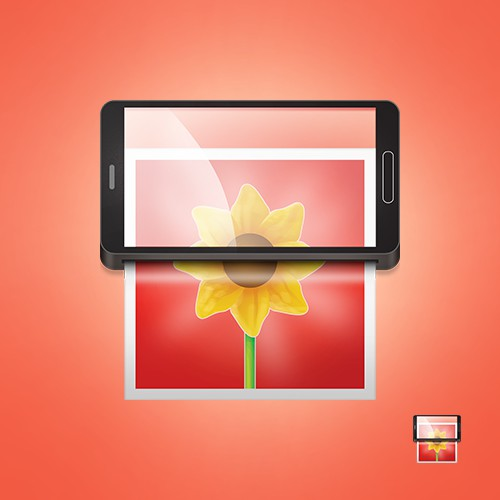 Android launcher icon for a photo printing app