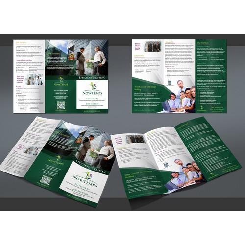 brochure design for NowTemps Staffing