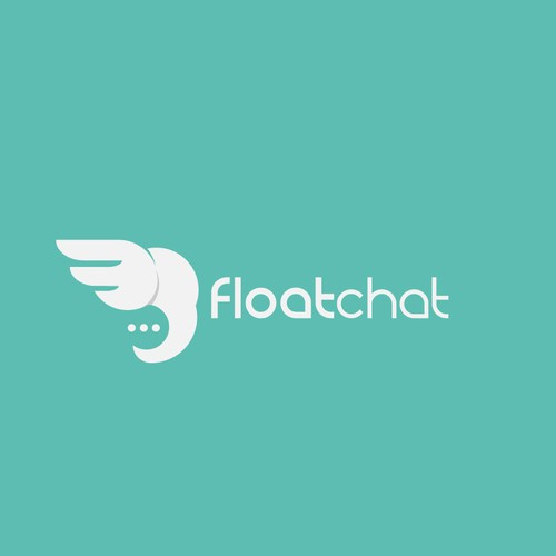 simple,playfull,cleaver,abstract,and effective logo forFloatchat