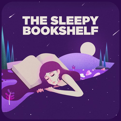 Podcast cover picture for the sleepy bookshelf