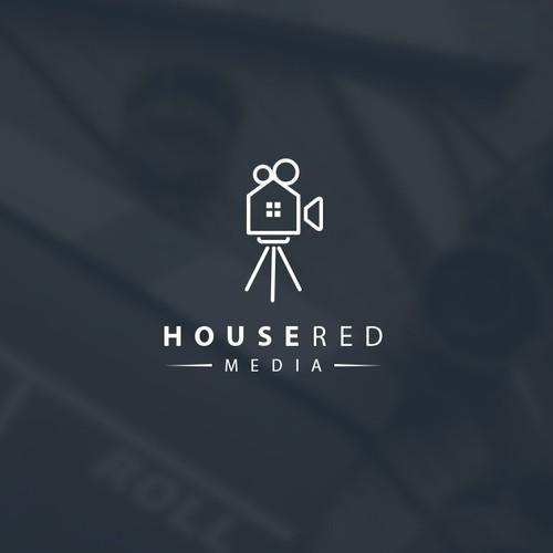 """Logo design for """"House Red Media"""""""