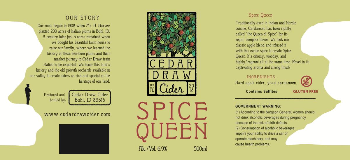 Labels for Cedar Draw Cider