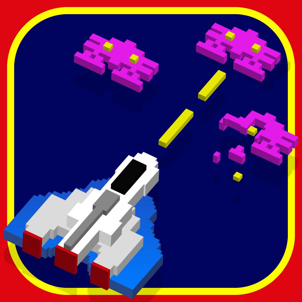 Create a modern style retro video game app icon