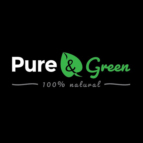 Pure & Green product label design