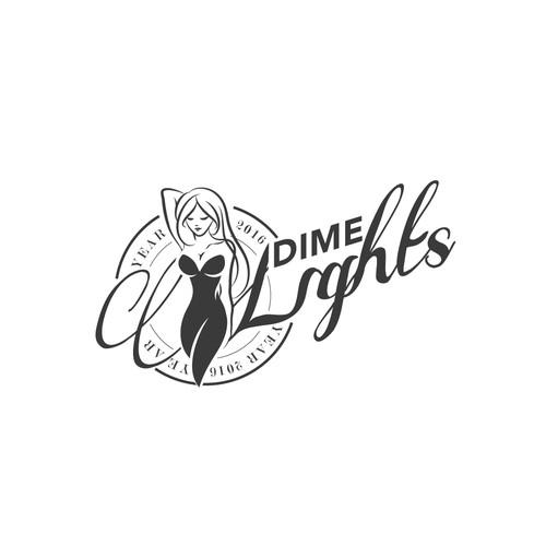 Logo concept for Dime Lights