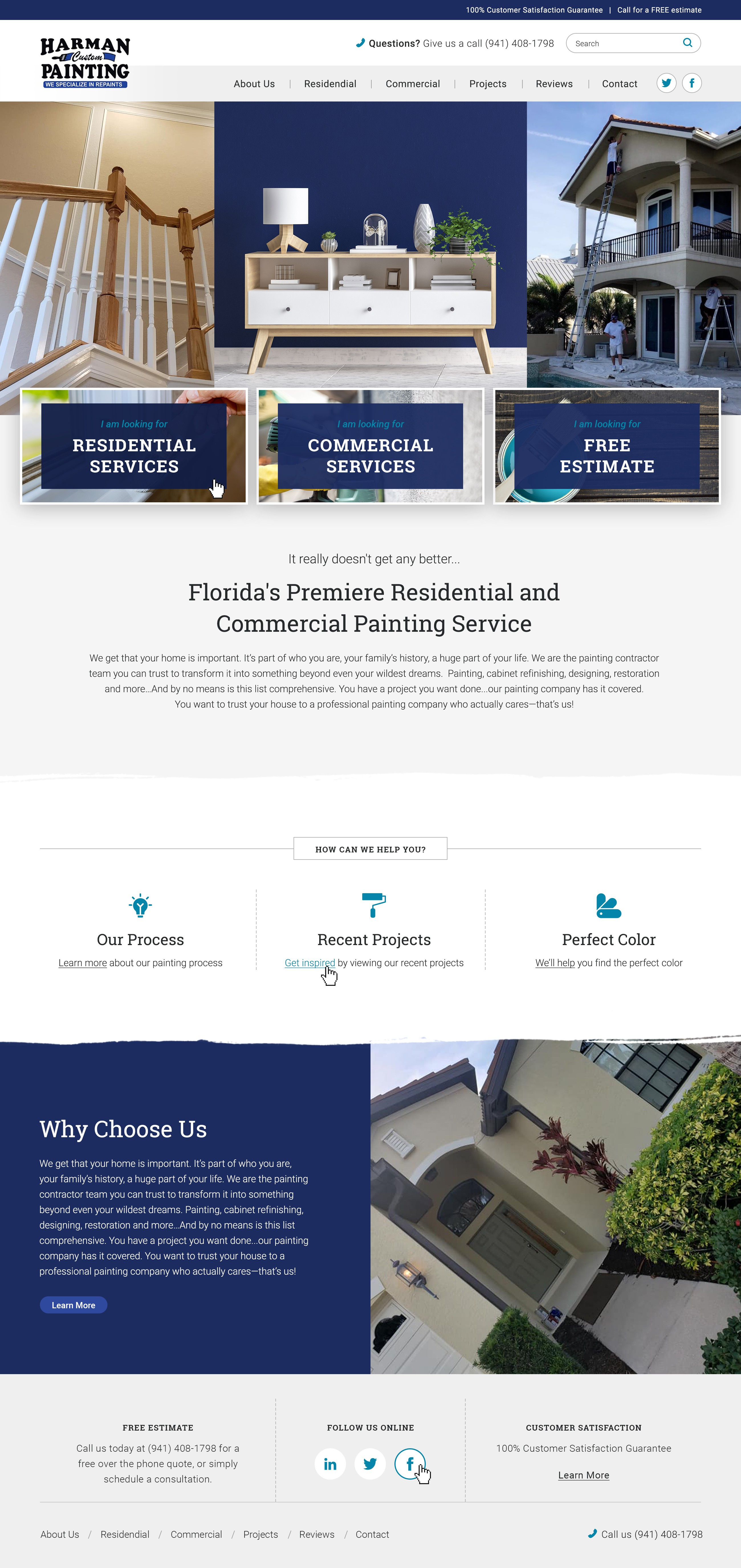 Established Painting Company First Website