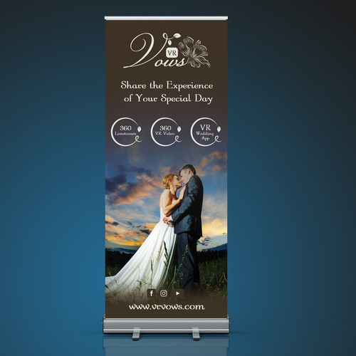 Expo banner and logo for wedding service