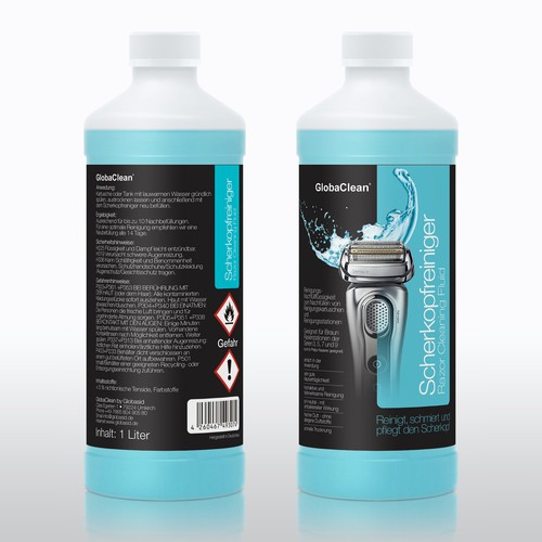 Scherkopfreiniger - Razor Cleaning Fluid - Package Design