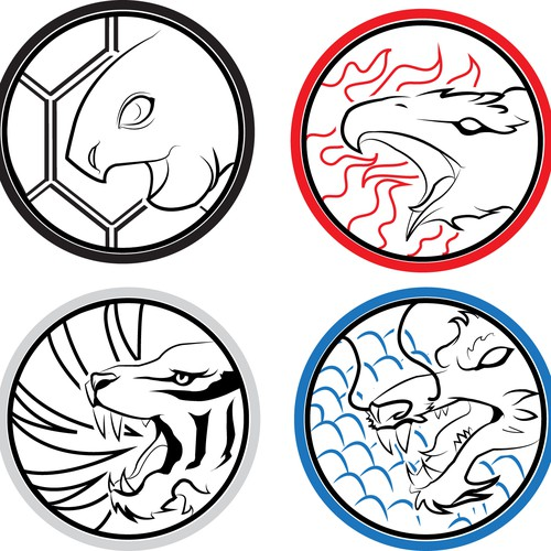 Japanese style crests
