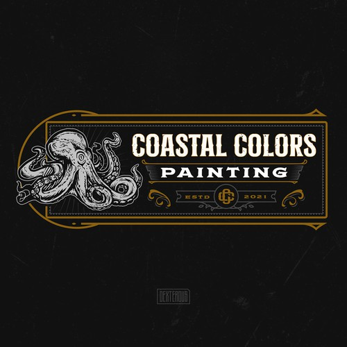 Coastal Colors Painting Logo