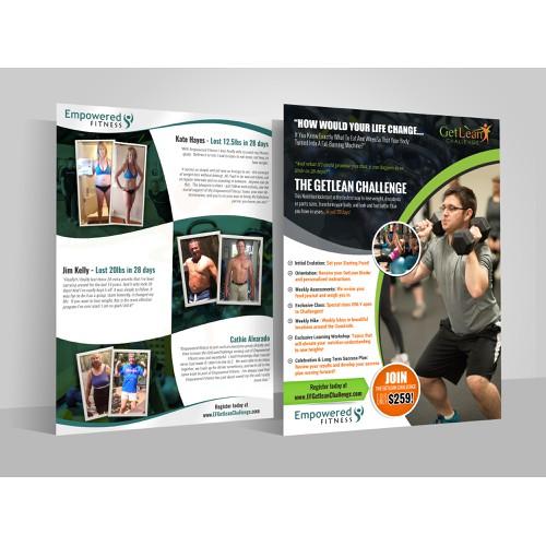 Flyer design for GetLean Challenge