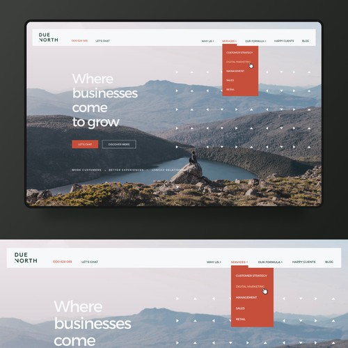 Webdesign for Due North