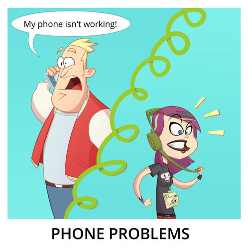 Comic Panel - Phone Problems