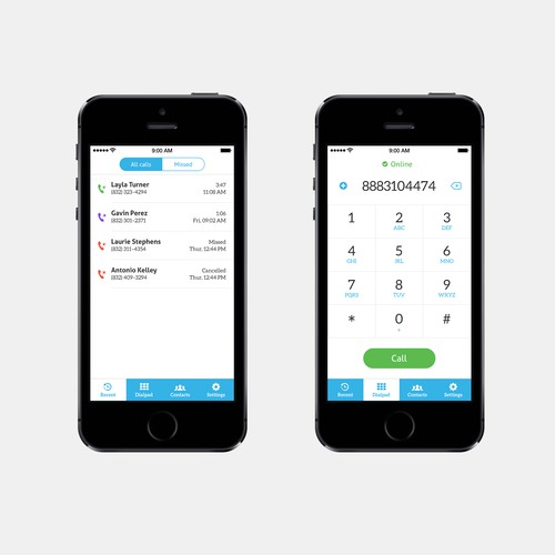 Some UI for a communication app