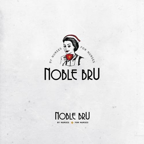 Logo design for Noble Bru coffee