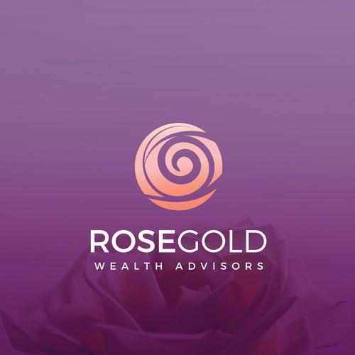 RoseGold Wealth Advisors Logo design