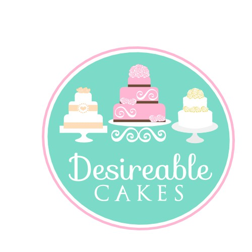 Create the next logo for desireable cakes