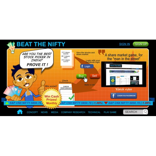 Create the next art or illustration for Beat The Nifty