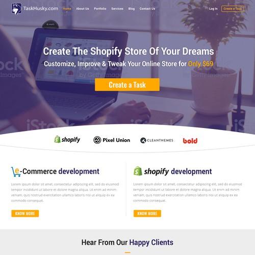 Website design for TaskHusky