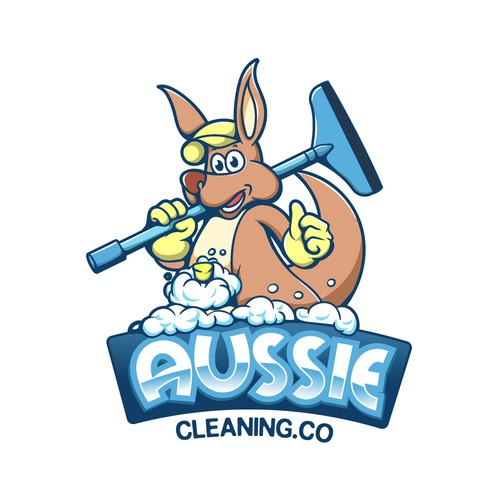 cleaning mascot
