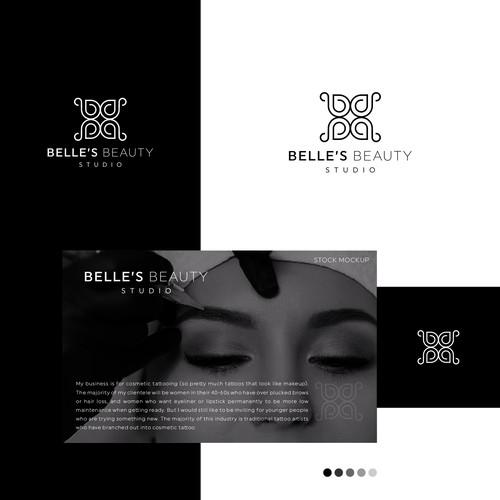 Logo concept for BELLE'S BEAUTY STUDIO