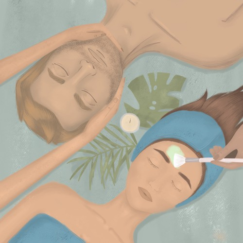 Skincare illustration