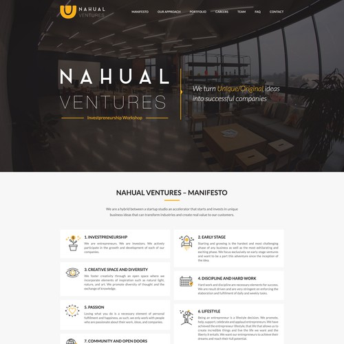 Modern Website Design for Nahual Ventures