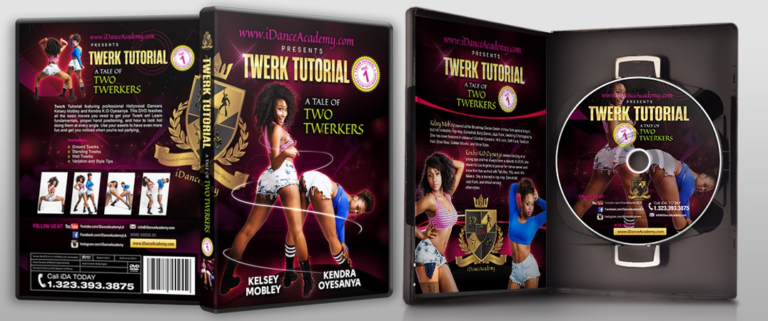 Create An Awesome DVD cover for Twerking Instructional Dance Video [iDanceAcademy]