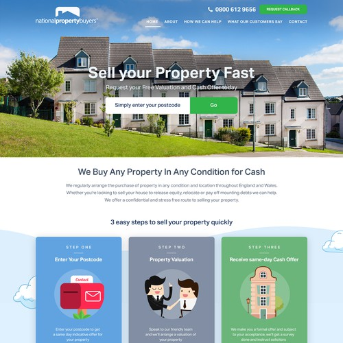Cool web design for property selling website.