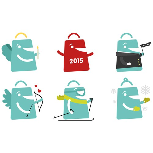 Illustrated icons for Deal.ch