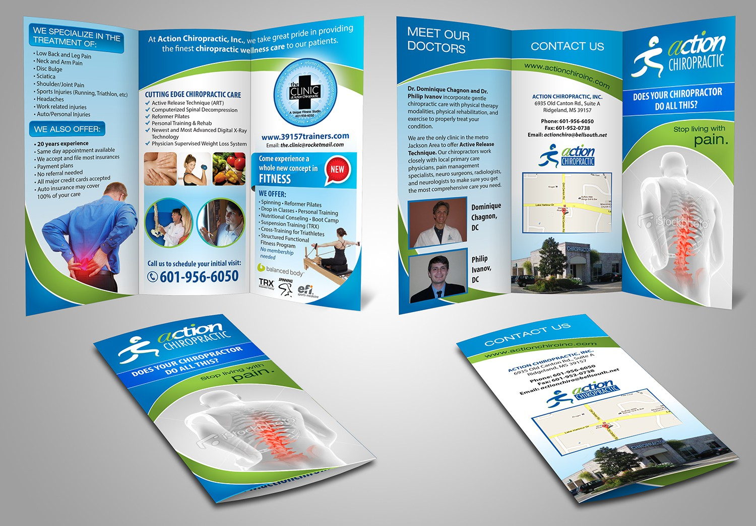 New brochure design wanted for Action Chiropractic Inc.