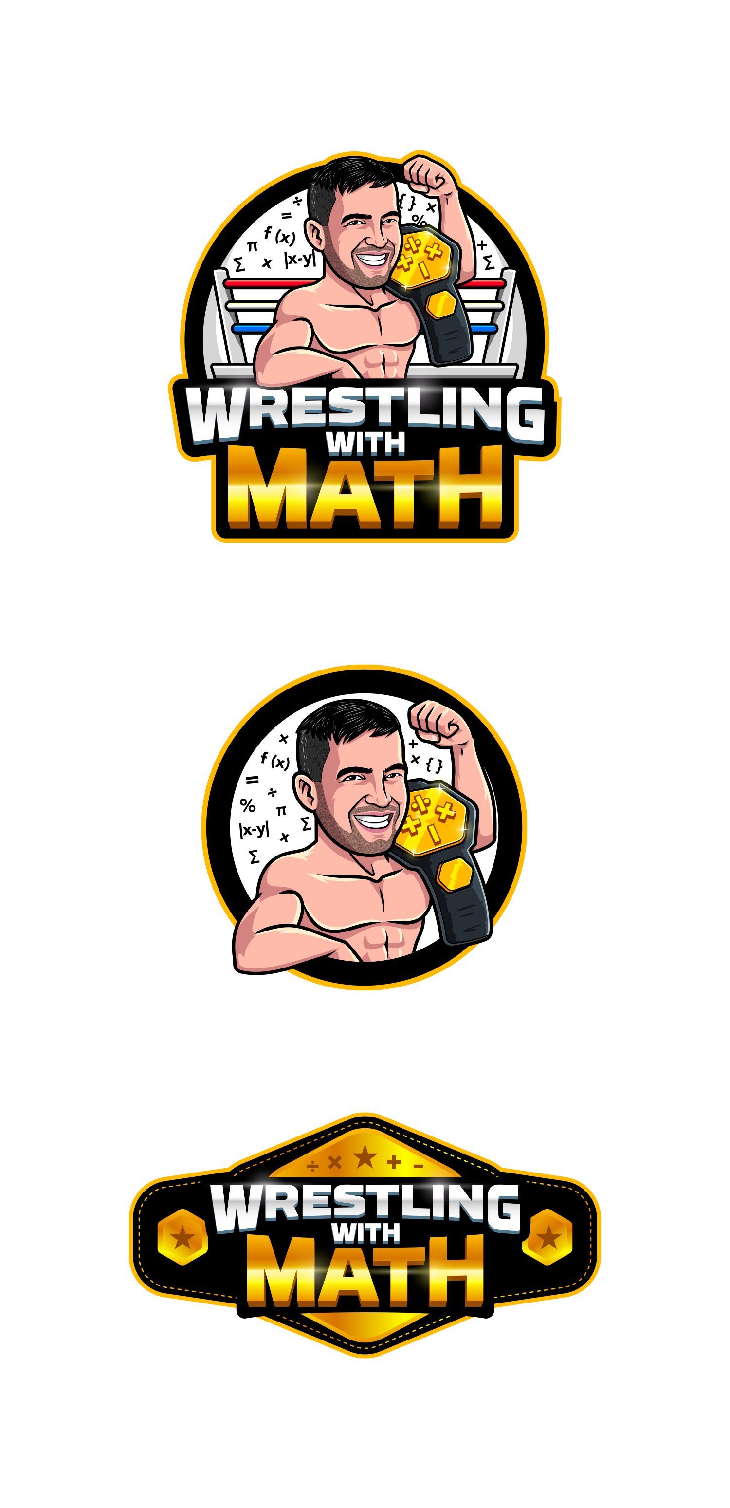 Wrestling with math logo