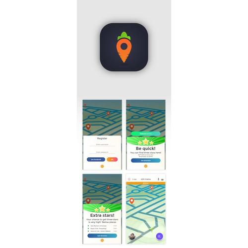 Pokemon-Go Like App Design