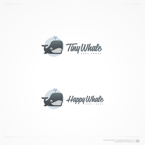 Tiny Whale Surf Lodge logo design