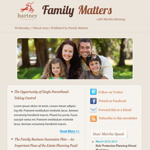 Help Hartney Family & Estate Law LLC with a new design