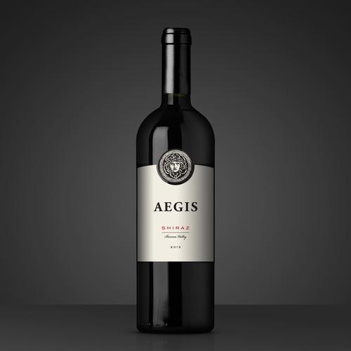 Premium and elegant wine label design