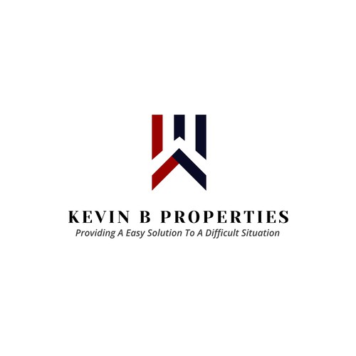 Simple logo for Kevin B Properties