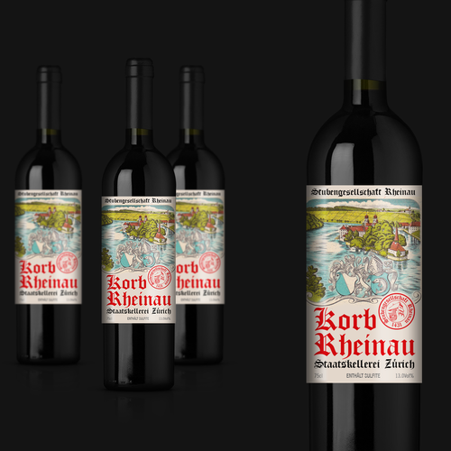 Vintage style wine  label
