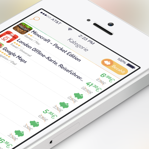 App Design for iOS-Searchengine