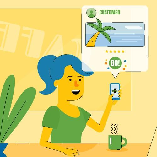 Illustration for travel app