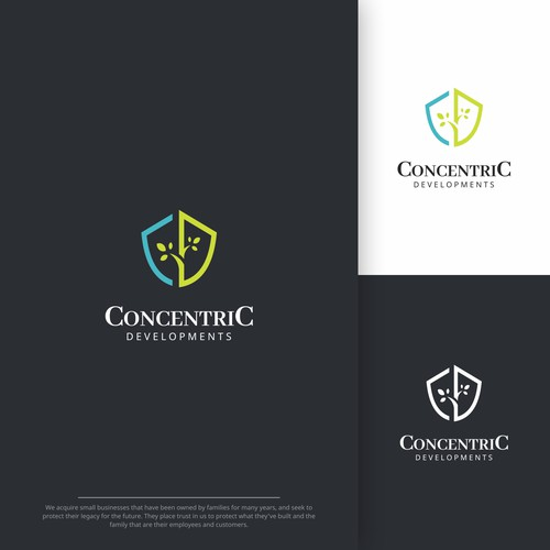 Simple and Professional Logo for Concentric Developments
